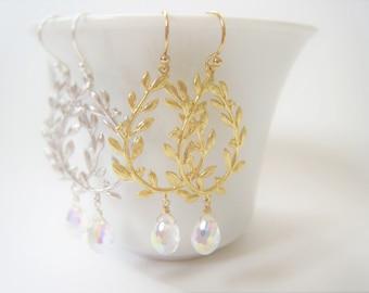 Laurel Leaf Earrings Gold Laurel Leaf Earrings Gold Leaf Earrings Gold Laurel Wreath Wedding Jewelry Bridal Bride Bridesmaids Gift Idea