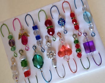 OnlyOneBox Variety*11 - Beaded Ornament Hangers -  FREE SHIPPING