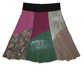 T-Shirt Skirt Size 16 18 Plus Size XL 1X Hippie Skirt Women's upcycled recycled clothing best selling item Twinkle Skirts Twinklewear