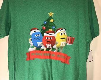 """Official M&M """"Surrounded By Nuts"""" Christmas Collection Tacky Ugly Christmas Sweater Shirt  Size-L"""