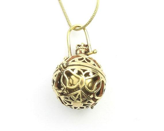 Patna Bola Necklace, Harmony Ball Pendant, Pregnancy Gift, Locket, Meditation, Festival Jewelry, Boho, Gypsy, Hippie, Spiritual