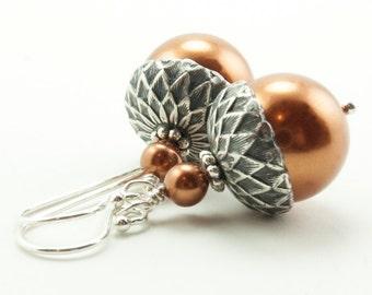 Acorn Earrings . Acorn Jewelry . Winter Wedding . Dangle Earrings