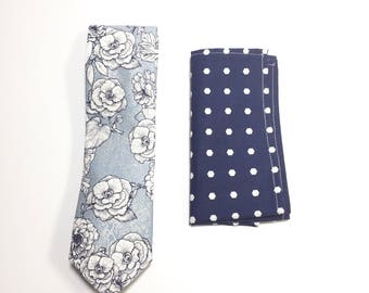"""The """"I Believe In Blues"""" Tie and Square Pack"""
