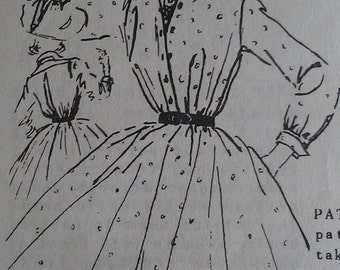 Vintage 50s ANNE FOGARTY Pointed Collar Full Skirt Shirtwaist Shirt Waist Dress Sewing Pattern B36