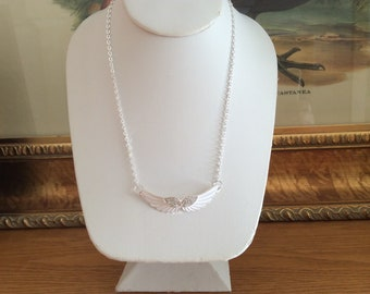 White angel wing necklace