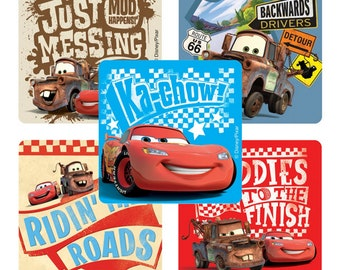"25 Disney Cars Rule The Road Stickers, 2.5"" x 2.5"" Each"