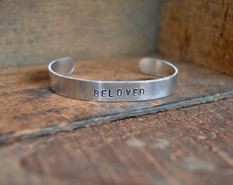 SR Beloved Stamped Cuff