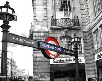 London Underground Station art photo print