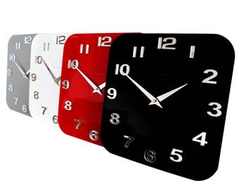 Roco Verre Gloss Acrylic Modern Retro Kitchen Wall Clock
