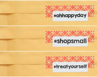 Hashtag Stickers - Packaging Supplies - Instagram Stickers - Product Packaging Stickers - Social Media Stickers - Business Stickers