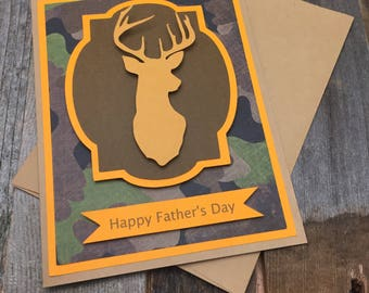 Happy Father's Day Card, Father's Day Card, Hunting Father's Day Card, Buck Father's Day Card, Deer Father's Day Card