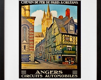 Angers France Travel Poster French Decor Wall Art Print (ZT258)