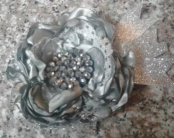 Newborn headband, Cinged flower headband, Toddler headband, Flower girl headband