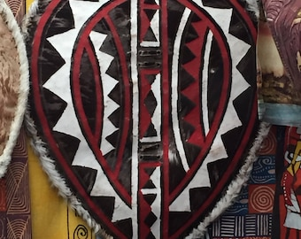 South Africa lade and wood zulu shield