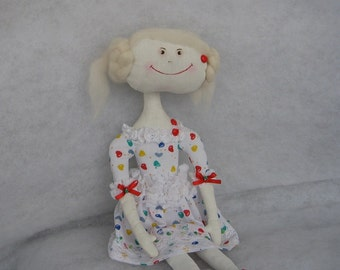Primitive doll Primitive art doll Cloth doll Collecting doll Soft sculpture Human figure doll