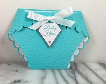 Invitation, T&C or Breakfast at Tiffany's Diaper set of 10 Elegant Baby Shower Party Invites