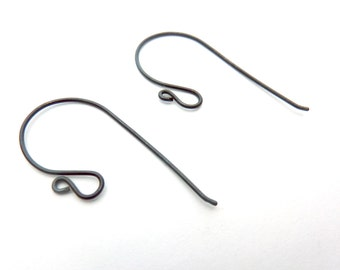 Loopy Sterling Silver Ear Wires - 1 Pair - Choose your Gauge and finish