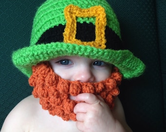 Leprechaun Baby Hat, Leprechaun Baby, Leprechaun Hat, St. Patrick's Day gift, March Baby Gift, St Patrick's Day, Irish Baby, Baby Beard Hat