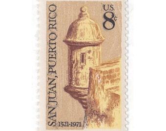 1971 8c San Juan, Puerto Rico - 10 Unused Vintage US Postage Stamp - Item No. 1437