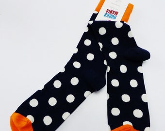 sock unisex polka dots big dot fun colorful silly funny happy man and woman socks