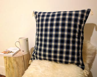 With tassels cotton Cushion cover 40 x 40