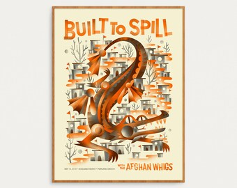 Built To Spill - May 14, 2018 Portland, Oregon - Official Gig Poster - 18x24