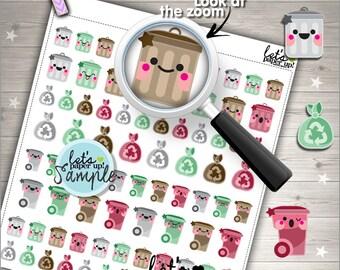 60%OFF - Garbage Stickers, Printable Planner Stickers, Trash Can Garbage, Kawaii Stickers, Planner Accessories, Printable Stickers, DIY