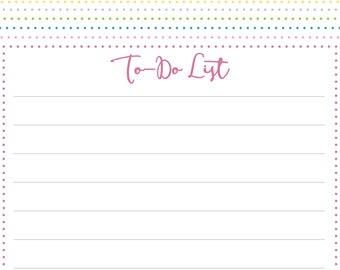 Printable To-Do List, Polka Dot To Do List, Checklist, Plan, Planner, List, Digital Download To Do, Printable Planner, Instant Download
