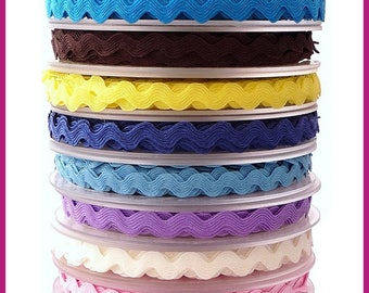 COLOR OF RIBBON RIC RAC SERPENTINE 10MM SEWING SCRAPBOOKING SCRAPBOOKING CARD
