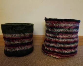 Christmas Striped basket