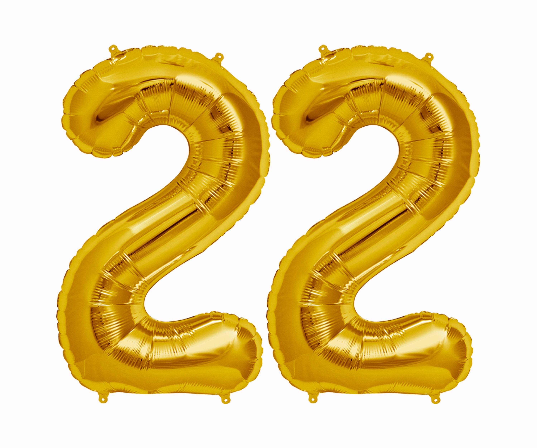 22 Balloons 22nd birthday party decorations jumbo letter balloon