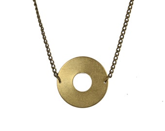 Brass Circle Necklace