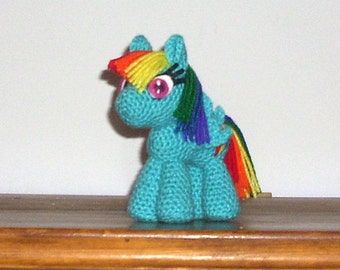 Rainbow Dash Crochet Plush