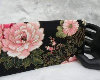 Oriental Peony checkbook cover