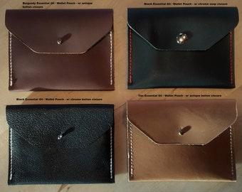 Leather essential oil case - essential oil bag - essential oil pouch - essential oil tote - handmade leather in the U.S.A.