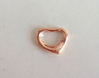 Rose Gold heart charm, hearts, charms, rose gold