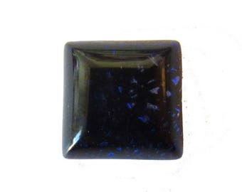 Handmade square 10mm purple Dichroic Glass cabochon