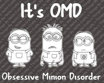 It's OMD-Obsessive Minion Disorder SVG