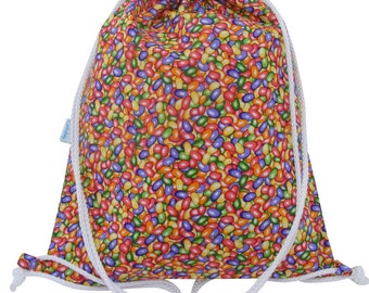 Swim Bag, Waterproof Backpack, Drawstring Gym Bag, Kids - Jelly Bean