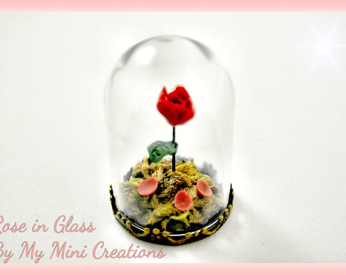 Rose in Glass Inspired by Beauty and the Beast