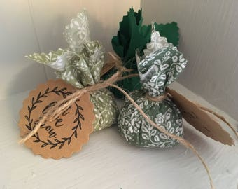 Wild flower seed bombs wedding favours rustic boho