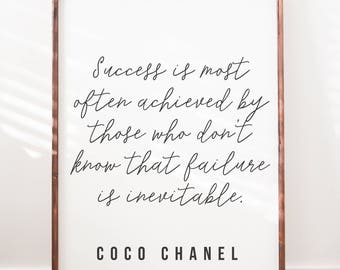 Coco Chanel - Success - Wood Sign