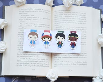 The upside down magnetic bookmarks