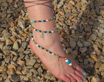 Lizard + Cactus Barefoot Sandal