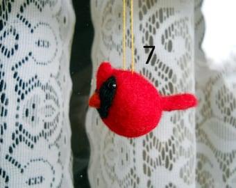 Cardinal Ornament - Needle Felted Bird - Christmas Ornament - Christmas Cardinal - Christmas Bird