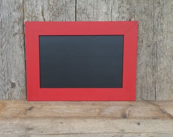 Magnetic Chalkboard Imperial Red Rustic Style Frame - Magnetic Board - Red Chalkboard
