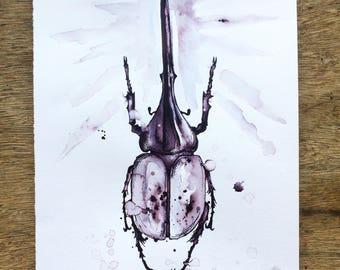 Hercules beetle (print)