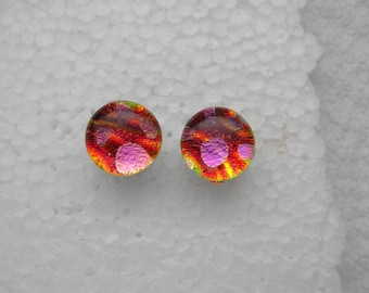 POST EARRINGS fused dichroic glass (SYG20)
