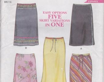 Skirt Pattern 5 Styles Pattern Misses Size 8 - 18  uncut  New Look 6084