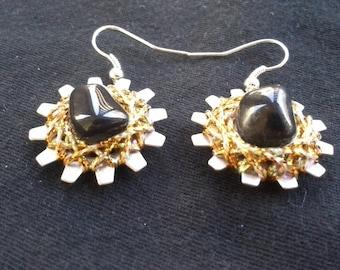 Apache Tears Earrings